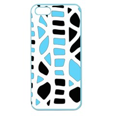 Light Blue Decor Apple Seamless Iphone 5 Case (color) by Valentinaart