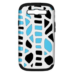 Light Blue Decor Samsung Galaxy S Iii Hardshell Case (pc+silicone) by Valentinaart