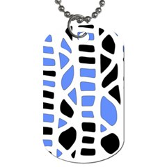 Blue Decor Dog Tag (one Side) by Valentinaart