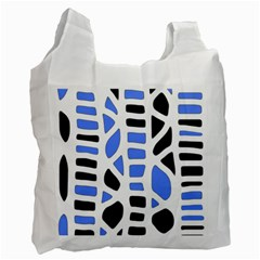 Blue Decor Recycle Bag (one Side) by Valentinaart