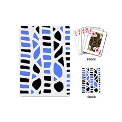 Blue Decor Playing Cards (mini)  by Valentinaart