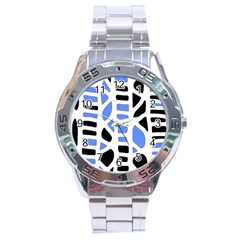 Blue Decor Stainless Steel Analogue Watch by Valentinaart