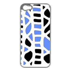 Blue Decor Apple Iphone 5 Case (silver) by Valentinaart