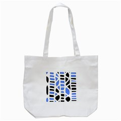 Blue Decor Tote Bag (white) by Valentinaart