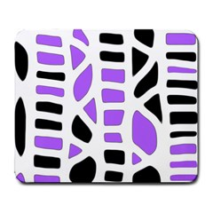 Purple Abstract Decor Large Mousepads by Valentinaart