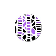 Purple Abstract Decor Golf Ball Marker (10 Pack) by Valentinaart