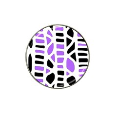 Purple Abstract Decor Hat Clip Ball Marker (10 Pack) by Valentinaart
