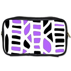 Purple Abstract Decor Toiletries Bags by Valentinaart