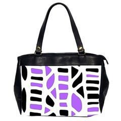 Purple Abstract Decor Office Handbags (2 Sides)