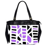 Purple abstract decor Office Handbags (2 Sides)  Front