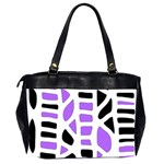 Purple abstract decor Office Handbags (2 Sides)  Back