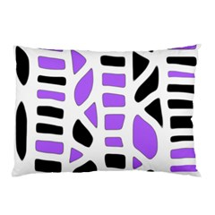 Purple Abstract Decor Pillow Case (two Sides) by Valentinaart