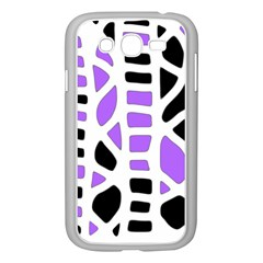 Purple Abstract Decor Samsung Galaxy Grand Duos I9082 Case (white) by Valentinaart