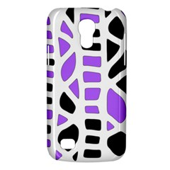 Purple Abstract Decor Galaxy S4 Mini by Valentinaart