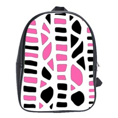 Pink Decor School Bags(large)  by Valentinaart
