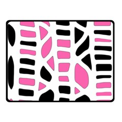 Pink Decor Double Sided Fleece Blanket (small)