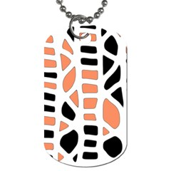 Orange Decor Dog Tag (two Sides) by Valentinaart