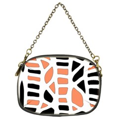 Orange Decor Chain Purses (two Sides)
