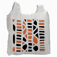 Orange Decor Recycle Bag (one Side)