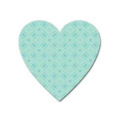 Light Blue Lattice Pattern Heart Magnet by TanyaDraws