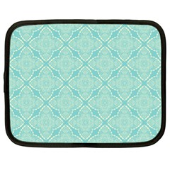 Light Blue Lattice Pattern Netbook Case (xl)  by TanyaDraws