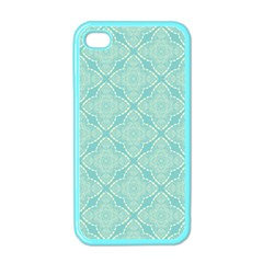 Light Blue Lattice Pattern Apple Iphone 4 Case (color) by TanyaDraws