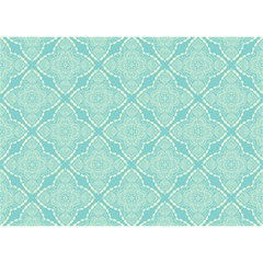 Light Blue Lattice Pattern Birthday Cake 3d Greeting Card (7x5) by TanyaDraws