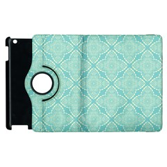 Light Blue Lattice Pattern Apple Ipad 3/4 Flip 360 Case by TanyaDraws