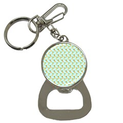 Tropical Watercolour Pineapple Pattern Bottle Opener Key Chains