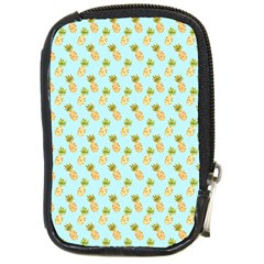 Tropical Watercolour Pineapple Pattern Compact Camera Cases by TanyaDraws