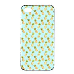 Tropical Watercolour Pineapple Pattern Apple Iphone 4/4s Seamless Case (black) by TanyaDraws