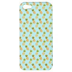 Tropical Watercolour Pineapple Pattern Apple Iphone 5 Hardshell Case by TanyaDraws