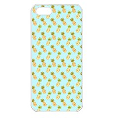 Tropical Watercolour Pineapple Pattern Apple Iphone 5 Seamless Case (white) by TanyaDraws