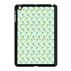 Tropical Watercolour Pineapple Pattern Apple Ipad Mini Case (black) by TanyaDraws
