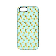 Tropical Watercolour Pineapple Pattern Apple Iphone 5 Classic Hardshell Case (pc+silicone) by TanyaDraws