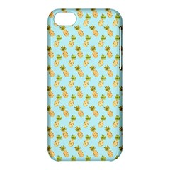 Tropical Watercolour Pineapple Pattern Apple Iphone 5c Hardshell Case by TanyaDraws