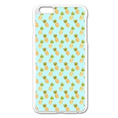 Tropical Watercolour Pineapple Pattern Apple Iphone 6 Plus/6s Plus Enamel White Case by TanyaDraws