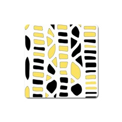 Yellow Decor Square Magnet by Valentinaart