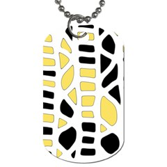 Yellow Decor Dog Tag (two Sides) by Valentinaart