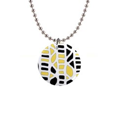 Yellow Decor Button Necklaces