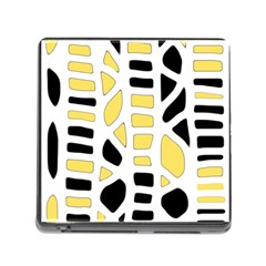 Yellow Decor Memory Card Reader (square) by Valentinaart
