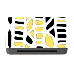 Yellow Decor Memory Card Reader With Cf by Valentinaart