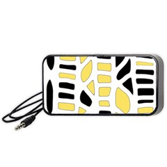 Yellow Decor Portable Speaker (black)  by Valentinaart