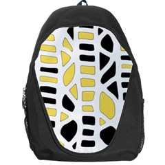 Yellow Decor Backpack Bag by Valentinaart