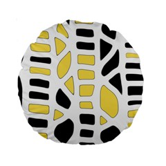 Yellow Decor Standard 15  Premium Round Cushions by Valentinaart
