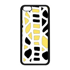 Yellow Decor Apple Iphone 5c Seamless Case (black) by Valentinaart