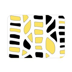 Yellow Decor Double Sided Flano Blanket (mini)  by Valentinaart