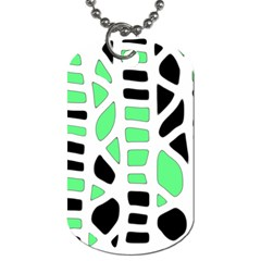 Light Green Decor Dog Tag (one Side) by Valentinaart