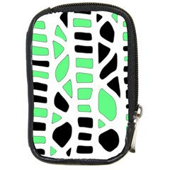 Light Green Decor Compact Camera Cases by Valentinaart