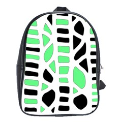 Light Green Decor School Bags(large)  by Valentinaart